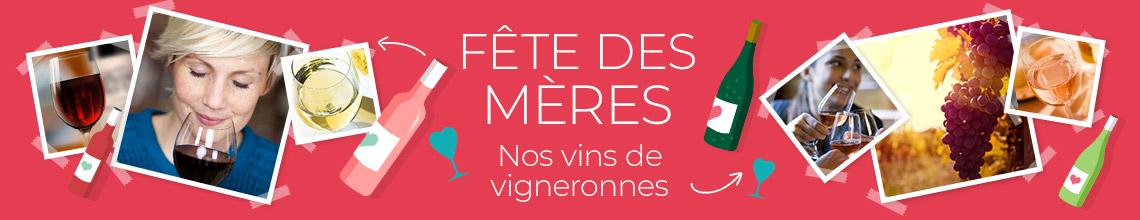 Sélection Fête des Mères des Vignerons Indépendants. Expédiés en 48H chez vous ou points relais, tous les vins des vignerons indépendants.