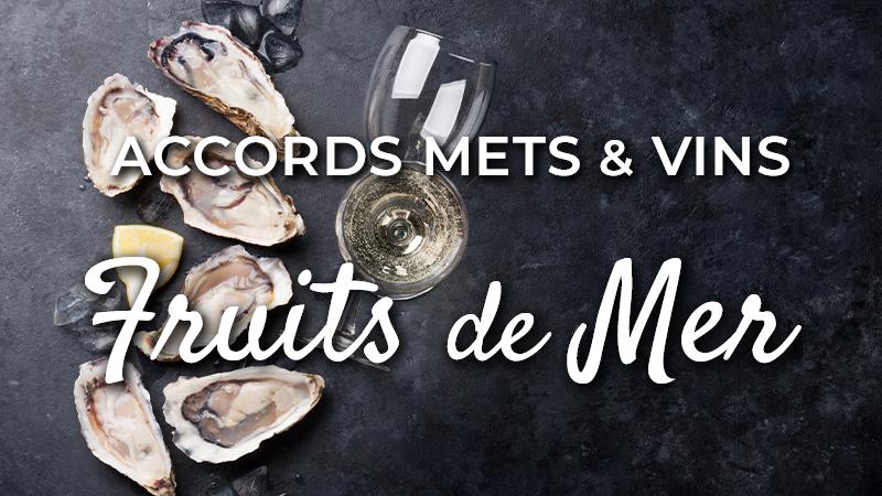 accords mets vins fruits de mer