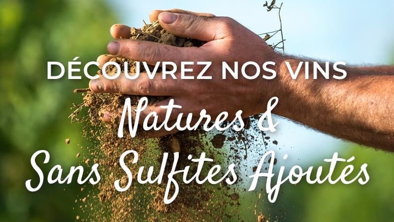 Vins natures & sans sulfites ajoutés