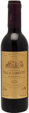 demi-bouteille Château Ballan-Larquette 2016 - médaille Or Bordeaux - Vignobles Chaigne