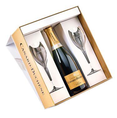 Coffret Léonie Brut + 2 flûtes Champagne Blanc