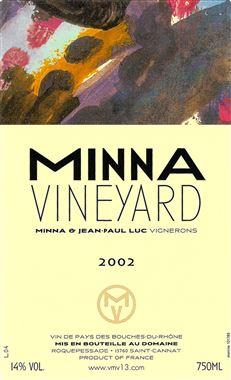 VILLA MINNA VINEYARD MINNA Bouches-du-Rhône Bouches-du-Rhône  Rouge 2002