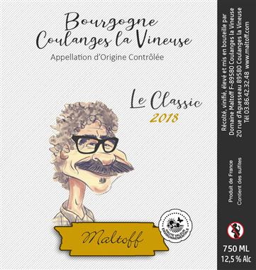 Domaine Maltoff Le Classic Blanc Bourgogne Coulanges-la-vineuse  Blanc 2018