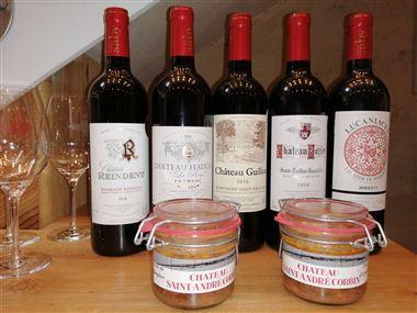 Coffret Cadeau  et dégustation 5 crus et 2 terrines de sanglier by SABY