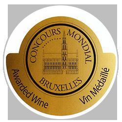 Concours mondial de Bruxelles 2015 : Gold medal
