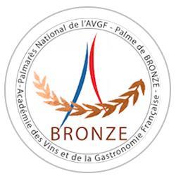 Palmarès National de l'Académie des Vins et de la Gastronomie Française 2018 : Médaille de bronze