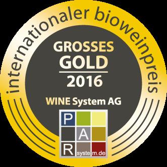 Bio Wein Preis  2015 : Grande médaille d'or