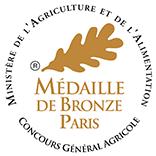 Concours général agricole 2018 : Médaille de bronze