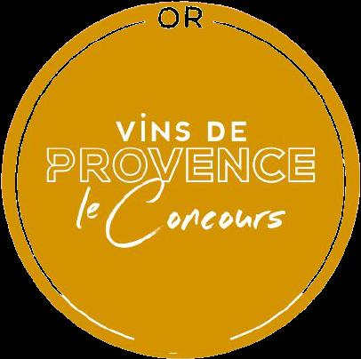 Concours des vins de Provence 2021 : Médaille d'or