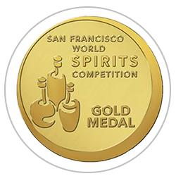 San Francisco World Spirit Competition  2015 : Gold Medal