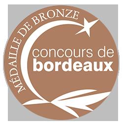 Concours de Bordeaux Vins d'Aquitaine 2017 : Médaille de bronze