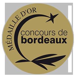Concours de Bordeaux Vins d'Aquitaine 2020 : Médaille d'or