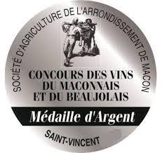 Concours de la St Vincent de Mâcon 2020 : Médaille d'argent