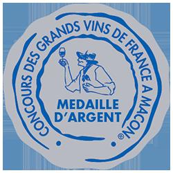 Concours des grands vins de France de Mâcon 2016 : Médaille d'argent