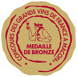 Concours des grands vins de France de Mâcon 2016 : Médaille de bronze