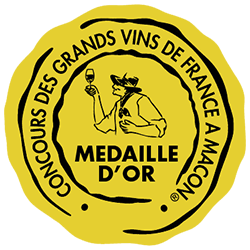 Concours des grands vins de France de Mâcon 2019 : Médaille d'or